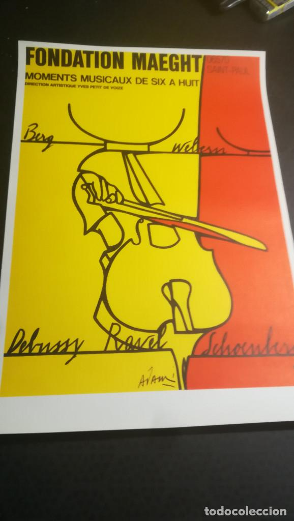Carteles Espectáculos: CARTEL DE Valerio Adami,litografía original-Momentos musicales de seis a ocho-Fundación Maeght 1976 - Foto 4 - 107465523