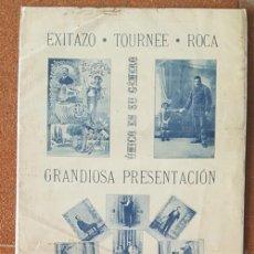 Carteles Espectáculos: ANTIGUO CARTEL ESPECTACULO TOURNE DEL MAGO ROCA 65 X 30 CM POSTER. Lote 184370507
