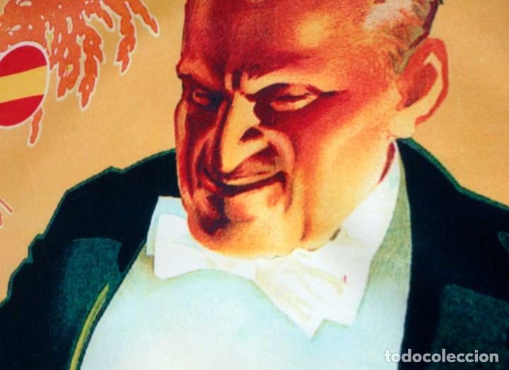 Carteles Espectáculos: GRAN CARTEL DE TELA PUBLICIDAD ARROZ ESPAÑOL. AÑOS 50. 90x60CM. NUEVO - Foto 2 - 185740052