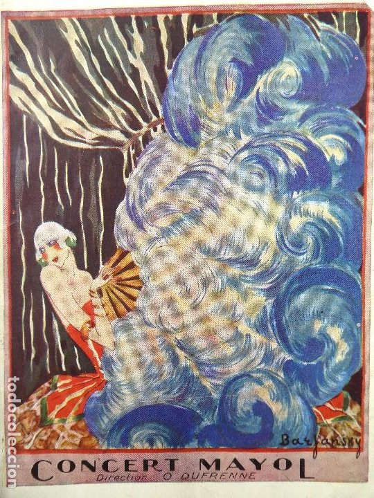 PR-1316. PROGRAMA CONCERT MAYOL. MUSIC HALL DIRECTION: OSCAR DUFRENNE. PARÍS. AÑOS 20. EN FRANCÉS. (Coleccionismo - Carteles Gran Formato - Carteles Circo, Magia y Espectáculos)