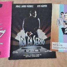 Carteles Espectáculos: LOTE 3 PROGRAMAS MUSICAL,TEATRO DIRTY DANCINF,EL CLUB DE LAS MENTIRAS,IRA EN SERIO. Lote 188490675