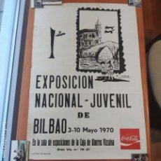 Carteles Espectáculos: BILBAO 1970: 1ª EXPOSICION NACIONAL JUVENIL - CAJA AHORROS VIZCAINA / FIRMA: M. SAITUA. Lote 188574690