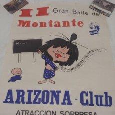 Carteles Espectáculos: CARTEL BILBAO 1965: ARIZONA CLUB. II BAILE DEL MONTANTE. Lote 189345193