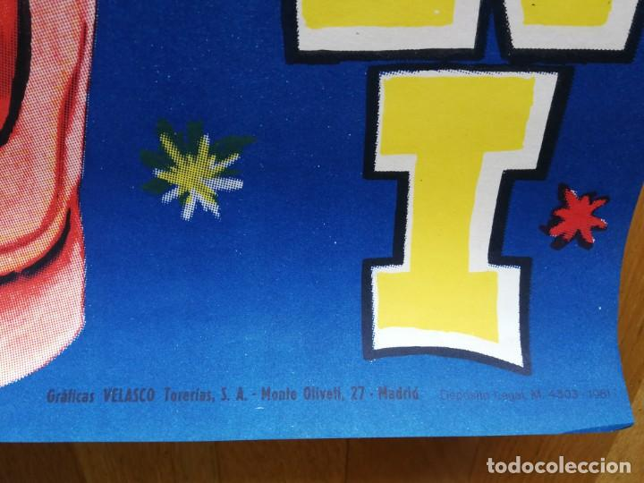 Carteles Espectáculos: Cartel póster 3 martini ( payasos de fama mundial) 39 cm x 111 cm muy buen estado 1961 - Foto 6 - 189489980