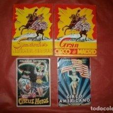 Carteles Espectáculos: LOTE DE PROGRAMAS REVISTAS DE CIRCO (AÑOS 60 Y 70). Lote 177770379
