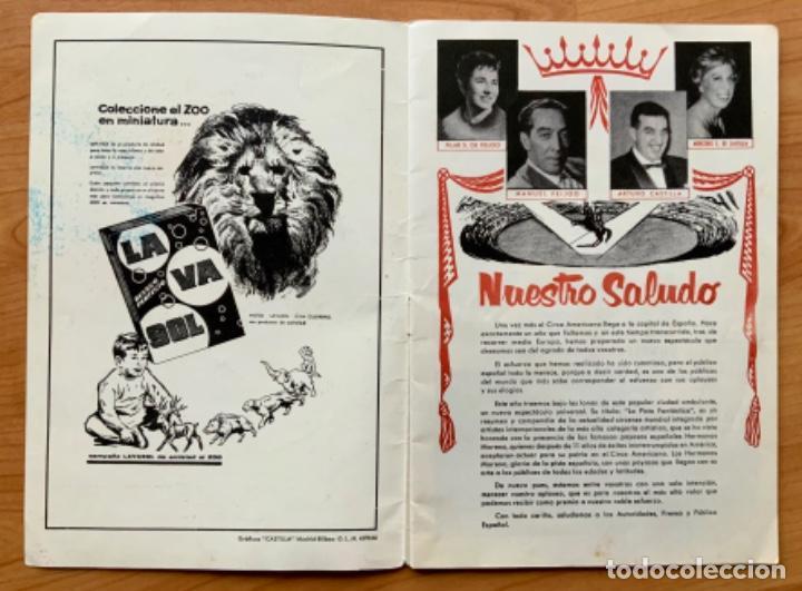 Carteles Espectáculos: PROGRAMA REVISTA DEL CIRCO AMERICANO AÑO 1960 - Foto 3 - 190937661