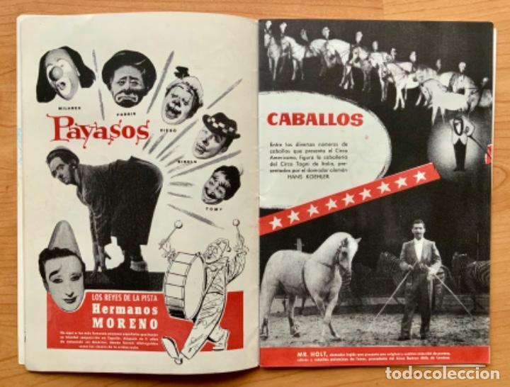 Carteles Espectáculos: PROGRAMA REVISTA DEL CIRCO AMERICANO AÑO 1960 - Foto 5 - 190937661