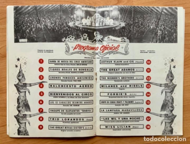 Carteles Espectáculos: PROGRAMA REVISTA DEL CIRCO AMERICANO AÑO 1960 - Foto 7 - 190937661