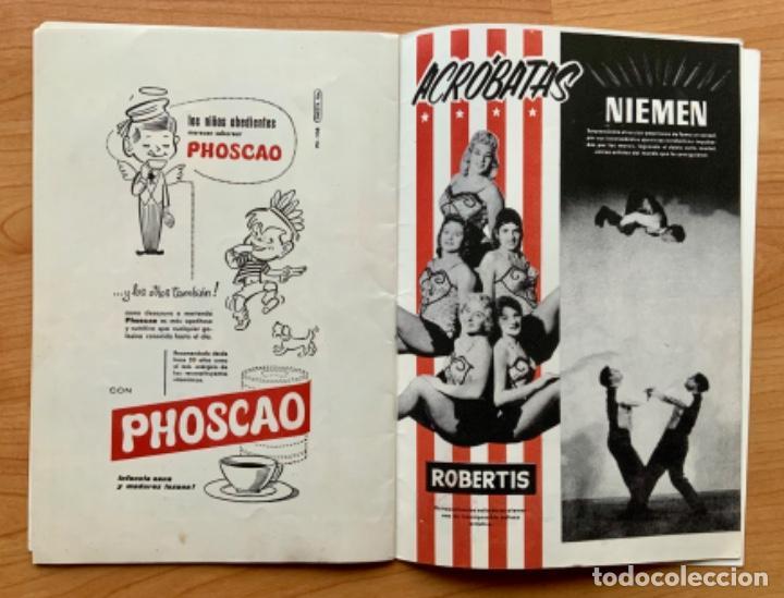 Carteles Espectáculos: PROGRAMA REVISTA DEL CIRCO AMERICANO AÑO 1960 - Foto 8 - 190937661