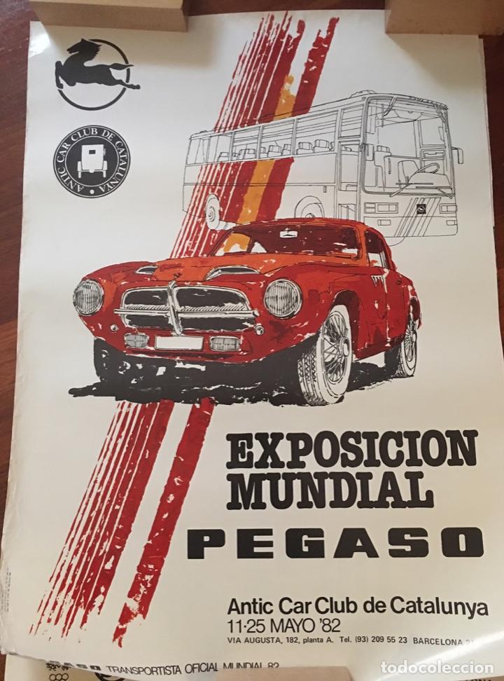 CARTEL EXPOSICIÓN MUNDIAL PEGASO 1982 (Coleccionismo - Carteles Gran Formato - Carteles Circo, Magia y Espectáculos)