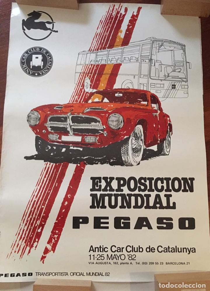 Carteles Espectáculos: CARTEL EXPOSICIÓN MUNDIAL PEGASO 1982 - Foto 2 - 191101793
