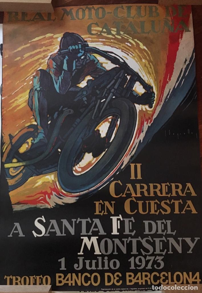 CARTEL CARRERA EN CUESTA MONTSENY 1973 SEGRELLES (Coleccionismo - Carteles Gran Formato - Carteles Circo, Magia y Espectáculos)