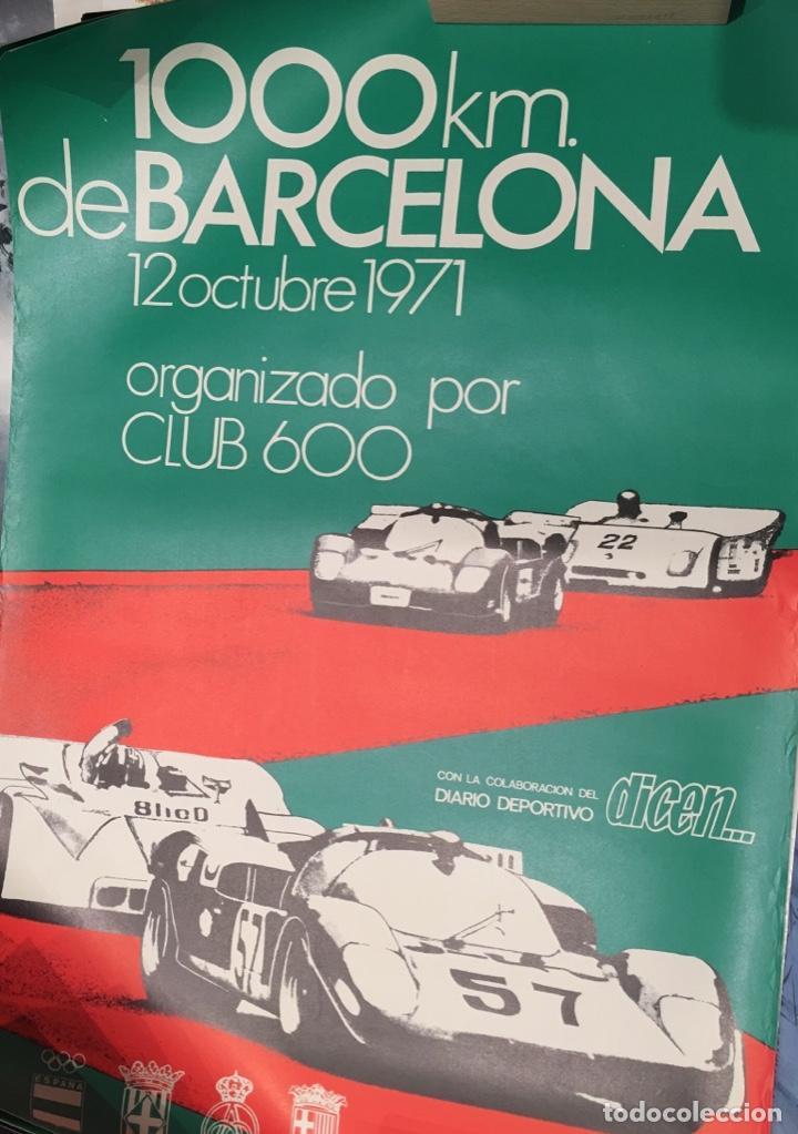 CARTEL CLUB 600 1000 KILÓMETROS BARCELONA 1971 (Coleccionismo - Carteles Gran Formato - Carteles Circo, Magia y Espectáculos)