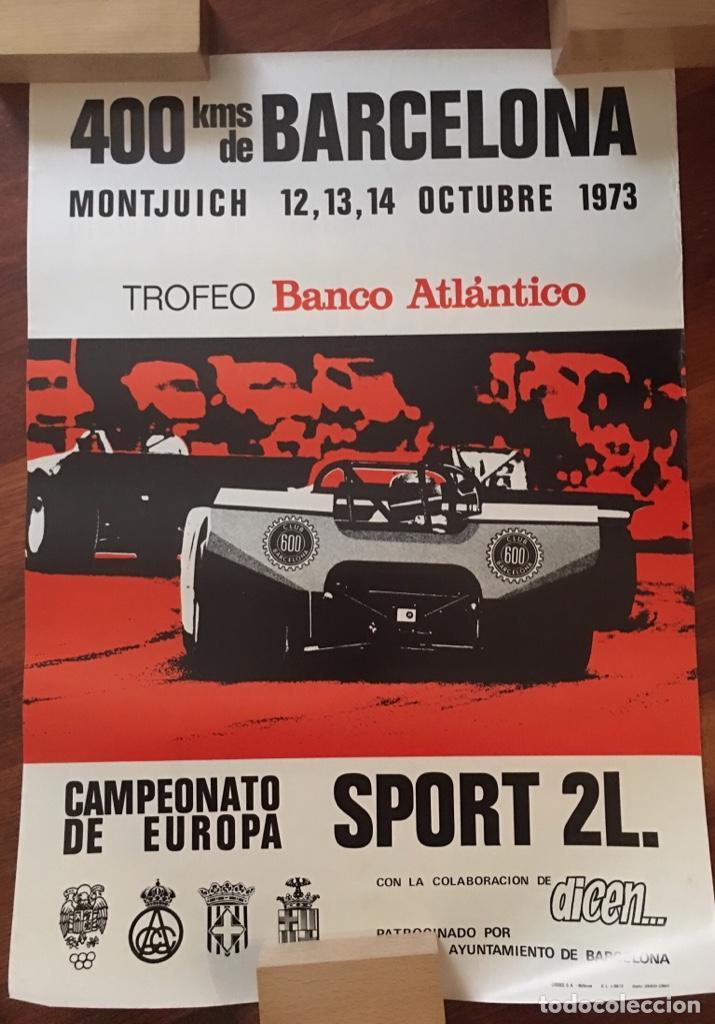 CARTEL 400 KMS BARCELONA MONTJUICH CAMPEONATO DE EUROPA 1973 (Coleccionismo - Carteles Gran Formato - Carteles Circo, Magia y Espectáculos)