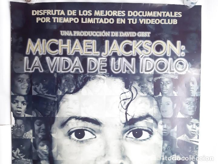 Carteles Espectáculos: POSTER MICHAEL JACKSON LA VIDA DE UN IDOLO CARTEL DOBLE REVERSO AYRTON SENNA FORMULA 1 98X68 CM. - Foto 2 - 191603076