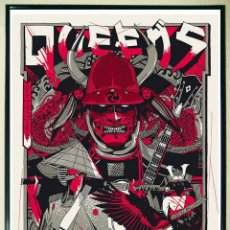 Carteles Espectáculos: BONITO CARTEL POSTER DE - QUEENS OF THE STONE AGE - TYLER STOUT - 2017 TAMAÑO 65 X 49 CMS. Lote 194254557