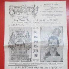 Carteles Espectáculos: CARTEL CIRCO GRAN CIRCO MARAVILLAS ALBACETE HERMANOS RIQUELME C59. Lote 194407071