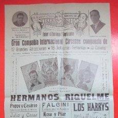 Carteles Espectáculos: CARTEL CIRCO GRAN CIRCO MARAVILLAS ALBACETE HERMANOS RIQUELME FALCINI C61. Lote 194591408