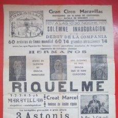 Carteles Espectáculos: CARTEL CIRCO GRAN CIRCO MARAVILLAS ALCALA DE HENARES HERMANOS RIQUELME ELEFANTE MAGO C70. Lote 194593377
