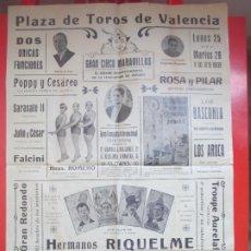 Carteles Espectáculos: CARTEL CIRCO GRAN CIRCO MARAVILLAS VALENCIA HERMANOS RIQUELME LOS AROCA C71. Lote 194593511