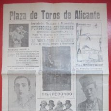 Carteles Espectáculos: CARTEL CIRCO GRAN CIRCO MARAVILLAS ALICANTE HERMANOS RIQUELME EL GRAN REDONDO C72. Lote 194593653