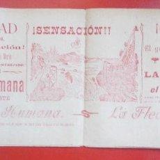 Carteles Espectáculos: CARTEL ESPECTACULO PUERTO DE SANTA MARIA 1908 LA FLECHA HUMANA GRAN QUIJOTE C78. Lote 194695222