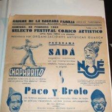 Carteles Espectáculos: BARCELONA,AMIGOS DE LA SAGRADA FAMILIA,FESTIVAL CÓMICO.. Lote 195048298