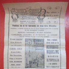 Carteles Espectáculos: CARTEL CIRCO GRAN CIRCO MARAVILLAS JACA HERMANOS RIQUELME EL TONTO SALVA C80. Lote 195098670
