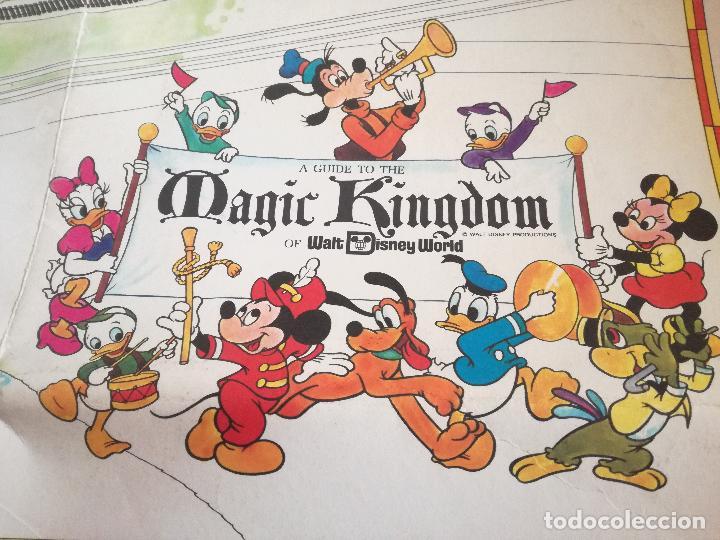 Carteles Espectáculos: MAPA GUIA PARQUE ATRACCIONES MAGIC KINGDOM OF WALT DISNEY WORLD AÑOS 70 - Foto 3 - 195283368
