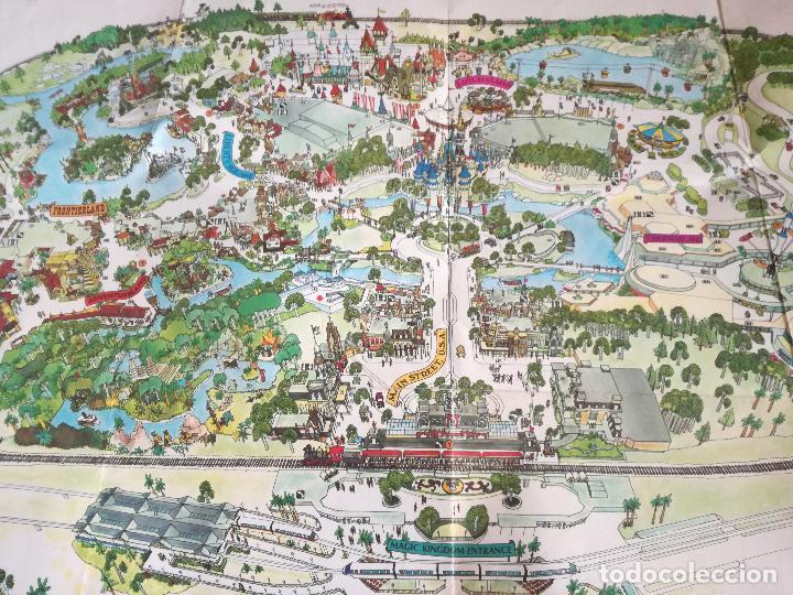 Carteles Espectáculos: MAPA GUIA PARQUE ATRACCIONES MAGIC KINGDOM OF WALT DISNEY WORLD AÑOS 70 - Foto 4 - 195283368