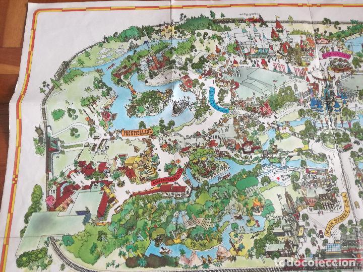Carteles Espectáculos: MAPA GUIA PARQUE ATRACCIONES MAGIC KINGDOM OF WALT DISNEY WORLD AÑOS 70 - Foto 7 - 195283368