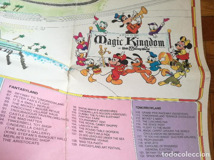 Carteles Espectáculos: MAPA GUIA PARQUE ATRACCIONES MAGIC KINGDOM OF WALT DISNEY WORLD AÑOS 70 - Foto 9 - 195283368