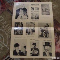 Affissi Spettacoli: CARTEL PAYASOS CLOWNS EN DIFERENTES CIRCOS ESPECTACULOS. Lote 195795777