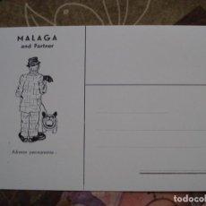 Carteles Espectáculos: TARJETA POSTAL NUEVA PROMOCION PAYASOS CLOWNS MALAGA AND PARTNER. Lote 195796067