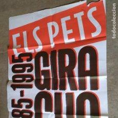 Carteles Espectáculos: PÓSTER CONCIERTO ELS PETS GIRA CUA 1985-1995. Lote 227981920