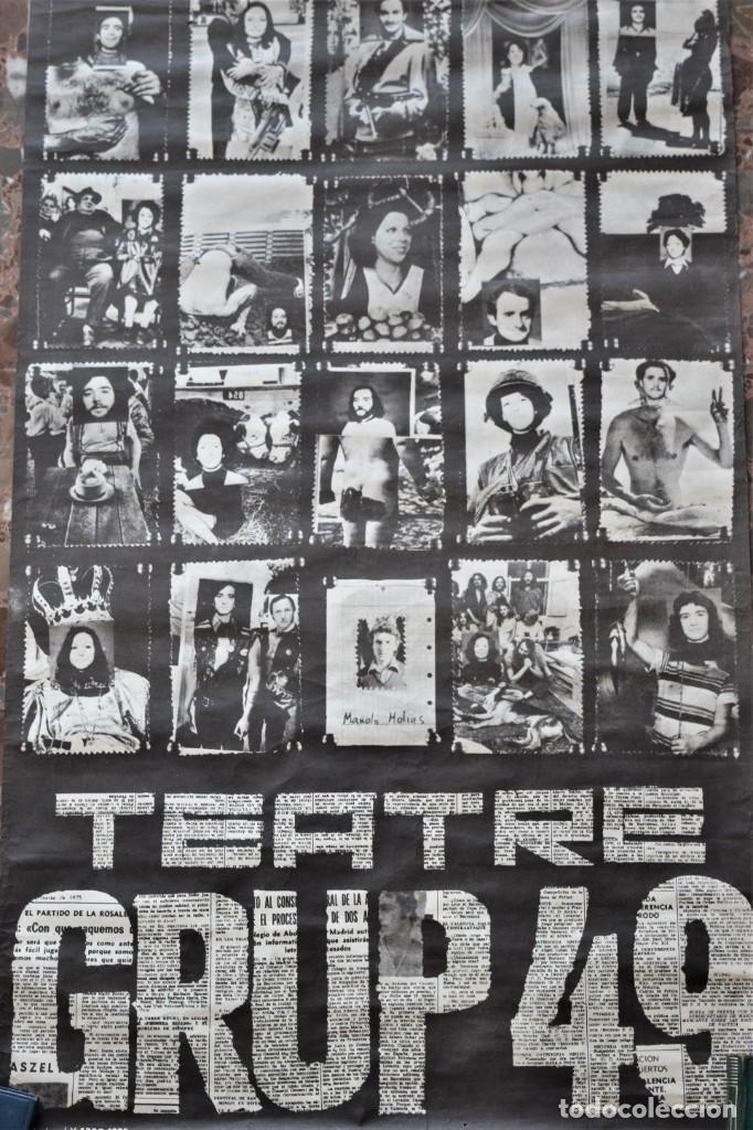 Carteles Espectáculos: CARTEL ORIGINAL TEATRE GRUP49 DE VALENCIA AÑO 1975 - TAMAÑO 42,5 X 81,5 CM - Foto 3 - 197046955