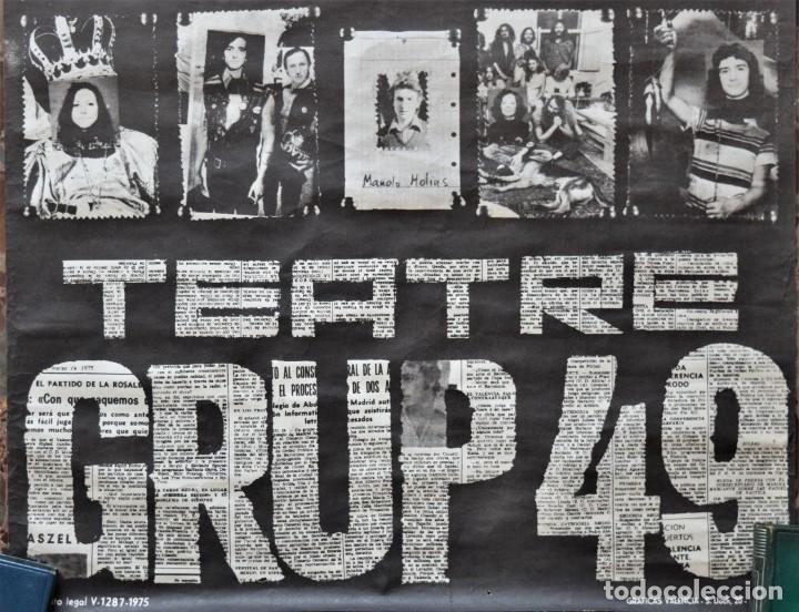 Carteles Espectáculos: CARTEL ORIGINAL TEATRE GRUP49 DE VALENCIA AÑO 1975 - TAMAÑO 42,5 X 81,5 CM - Foto 6 - 197046955