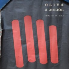 Carteles Espectáculos: CARTEL ORIGINAL OLIVA 3 JULIOL REAL DE LA FIRA CON PERE TAPIES, ENRIC ORTEGA, JOSEP BLAI - AÑOS 70. Lote 197047667