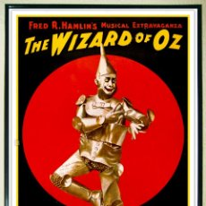 Carteles Espectáculos: CARTEL MUSICAL VINTAGE 1930 - FRED R HAMLIN`S EXTRAVAGANZA MUSICAL EL MAGO DE OZ - THE TIN MAN- 48. Lote 197062780