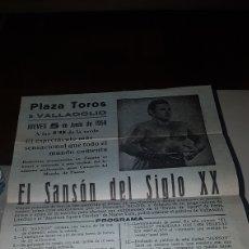 Carteles Espectáculos: EL SANSÓN DEL SIGLO XX 1958. Lote 198614916