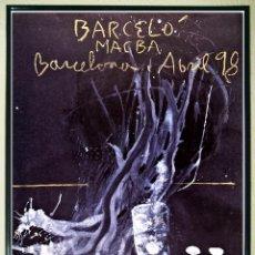 Carteles Espectáculos: CARTEL EXPOSICIÒN - MIGUEL BARCELO - EN - MACBA BARCELONA - AÑO 1998 TAMAÑO 70 X 49,87 CM.. Lote 199259272