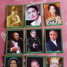 Carteles Espectáculos: LIQUIDACIÓN. 9 CALENDARIOS CANTANTES DE ÓPERA 2009. Lote 199503870