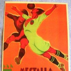 Carteles Espectáculos: CARTEL POSTER RETRO - FUTBOL EN MESTALLA - VALENCIA = REAL MADRID, EN 1931.. Lote 199575555