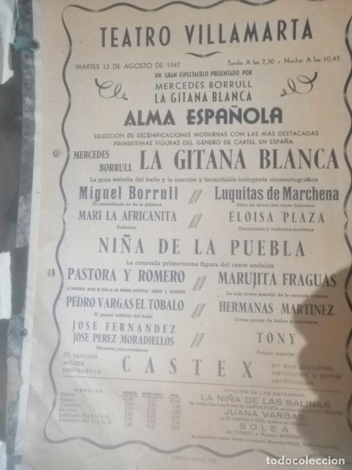 CARTEL TETRO VILLAMARTA (Coleccionismo - Carteles Gran Formato - Carteles Circo, Magia y Espectáculos)