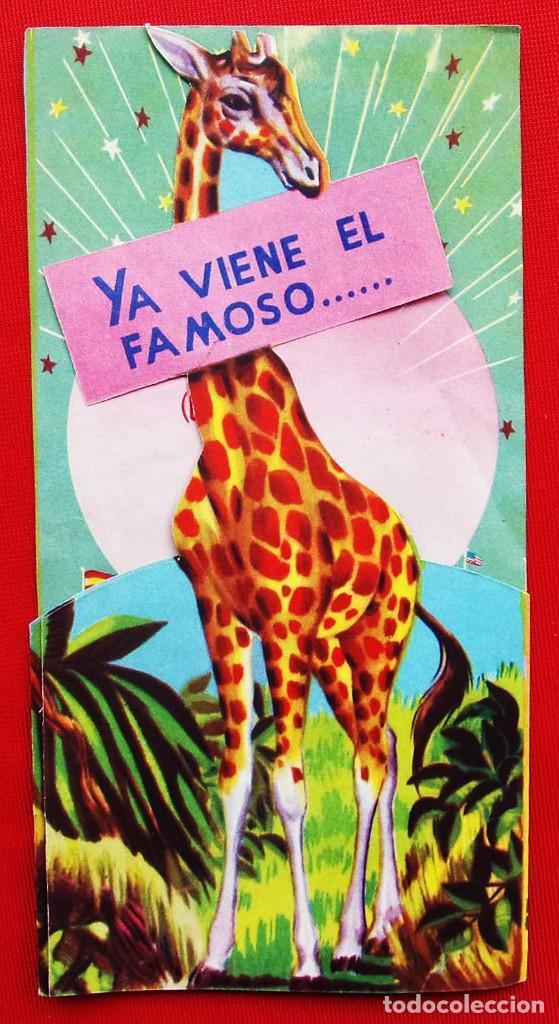 CIRCO AMERICANO. TRÍPTICO TROQUELADO. AÑO: 1956. (Coleccionismo - Carteles Gran Formato - Carteles Circo, Magia y Espectáculos)