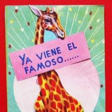 Carteles Espectáculos: CIRCO AMERICANO. TRÍPTICO TROQUELADO. AÑO: 1956.. Lote 199862541