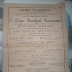 Affissi Spettacoli: CARTEL PUBLICIDAD TEATRO VILLAMARTA. Lote 199876013