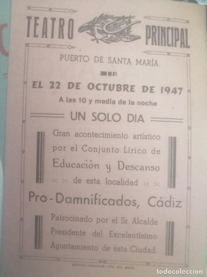 CARTEL TEATRO PRINCIPAL PUERTO DE SANTAMARIA FESTIVAL FLAMENCO (Coleccionismo - Carteles Gran Formato - Carteles Circo, Magia y Espectáculos)
