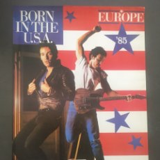 Carteles Espectáculos: CARTEL MERCHANDISING OFICIAL GIRA BORN IN THE USA BRUCE SPRINGSTEEN AÑO 1985. Lote 200619461