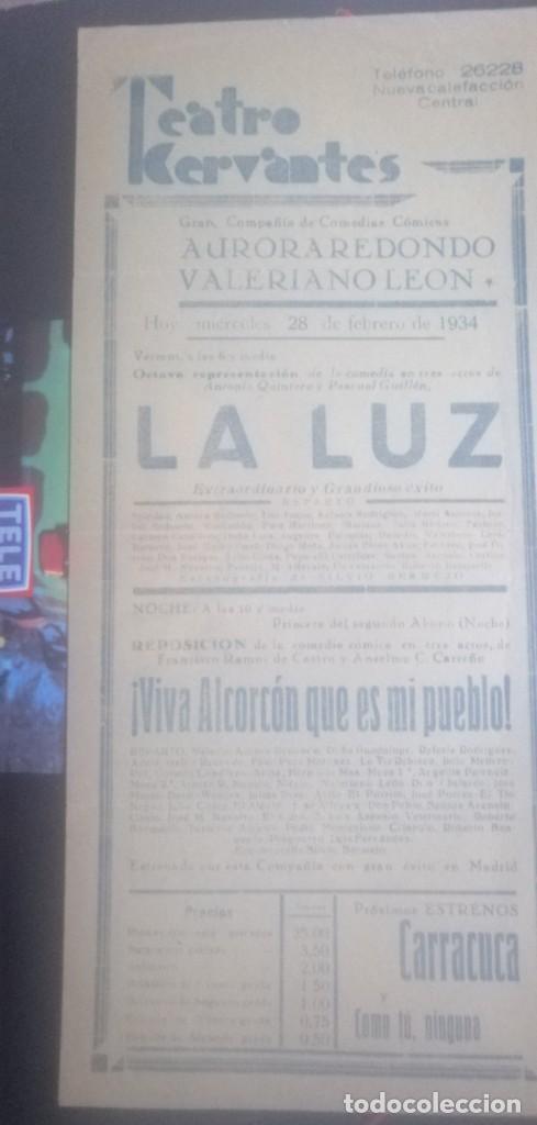 CARTEL TEATRO CERVANTES AÑOS 1934 (Coleccionismo - Carteles Gran Formato - Carteles Circo, Magia y Espectáculos)